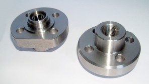 Flangia in F316L  per valvola lip seal con filetto interno npt