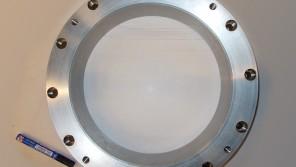 Anello diametro 450 mm in F316 con riporto in stellite