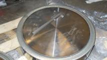 Riporto in stellite su coperchio valvola pressure seal diametro 350 in materiale F91