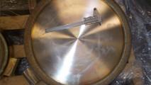 Riporto in stellite gr.6 su otturatore swing check diametro 500